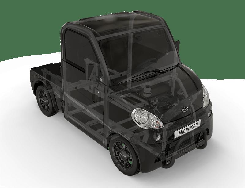 Sécurité pick-up sans permis Microcar