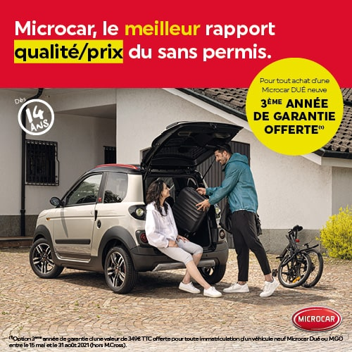 3ème année garantie constructeur - Microcar
