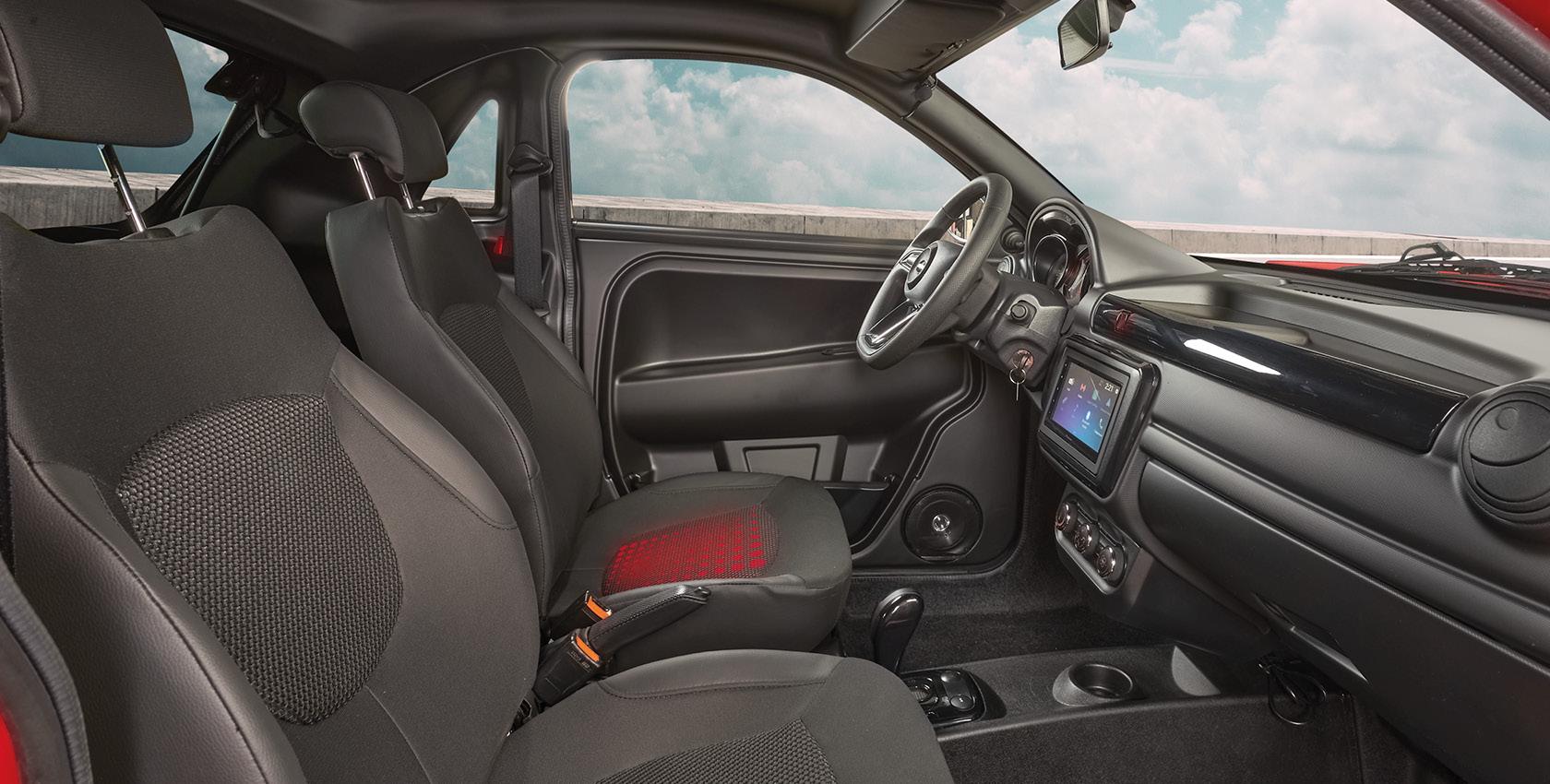 Exclusivité Microcar : siège chauffant